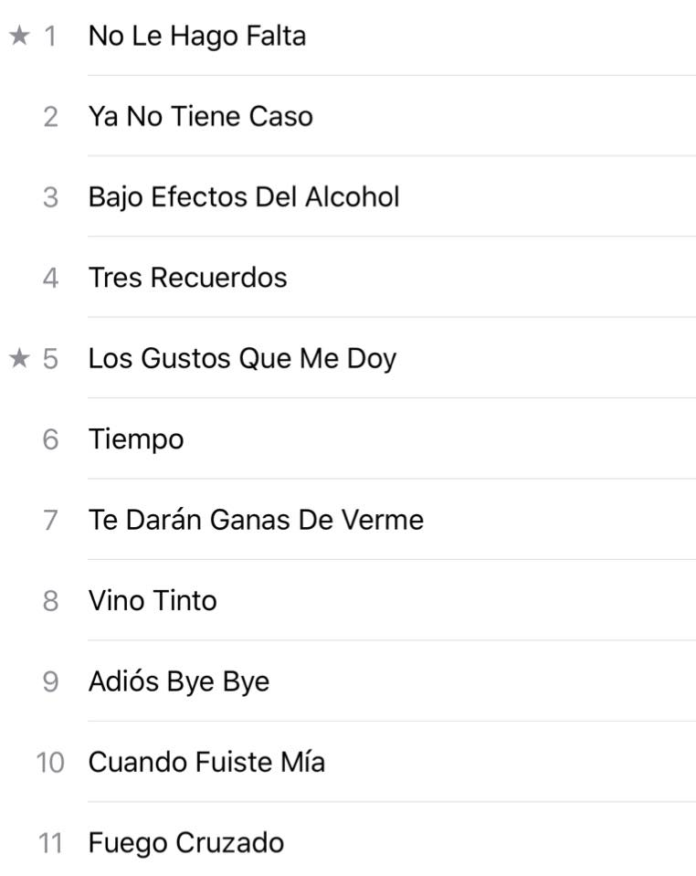 Que canción de nuestro disco #LosGustosQueMeDoy les gusta para siguien...