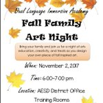 Fall Family Art Night