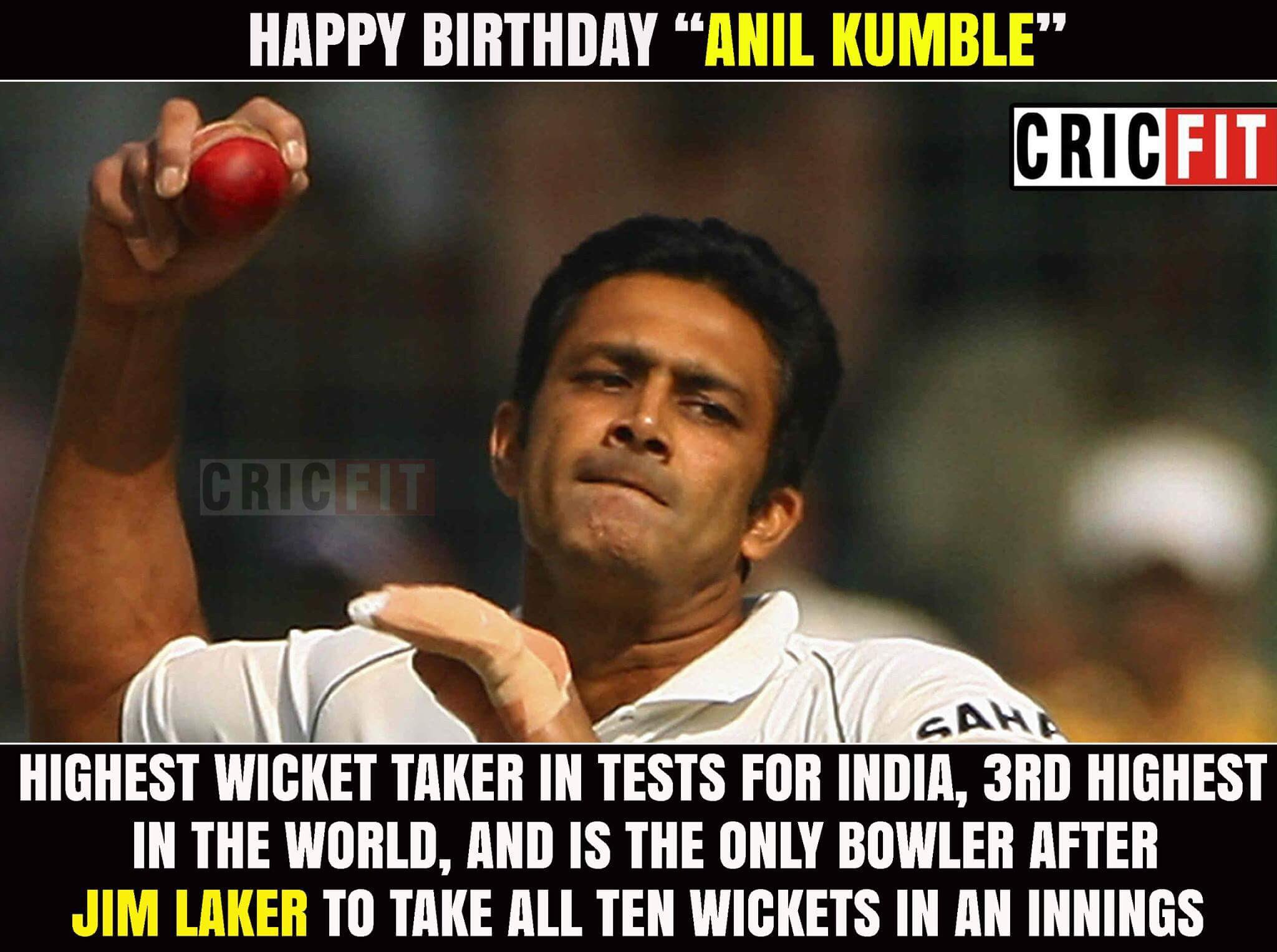 Happy Birthday Anil Kumble!