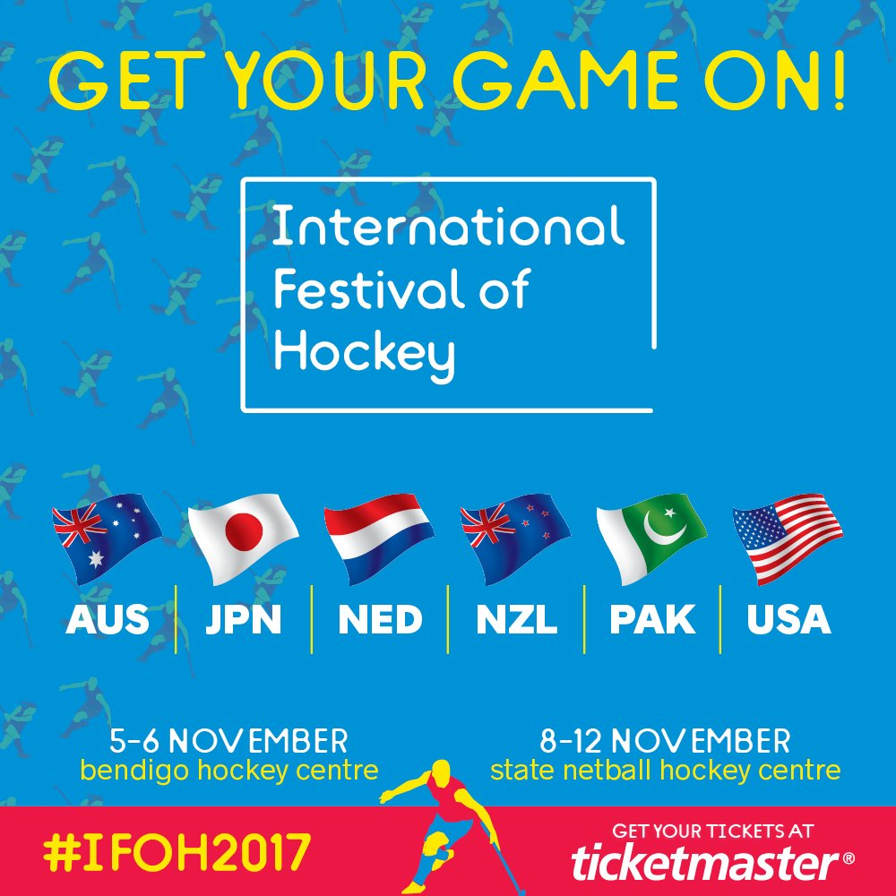 We'll face Pakistan, Japan & NZ at the International Festival of Hockey next month. Tix via  her@Ticketmaster_AUe > https://t.co/rvel4XzYFi