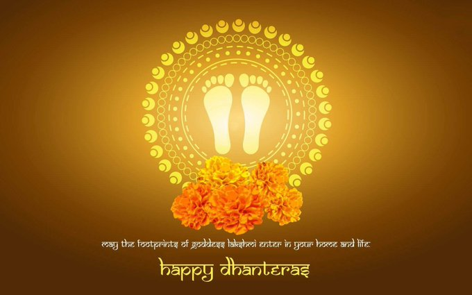 May Goddess Laxmi bless you and your family with abundance of good fortune, love and happiness. Happy #Dhanteras 🙏🏻 https://t.co/qNYcSTQLy0