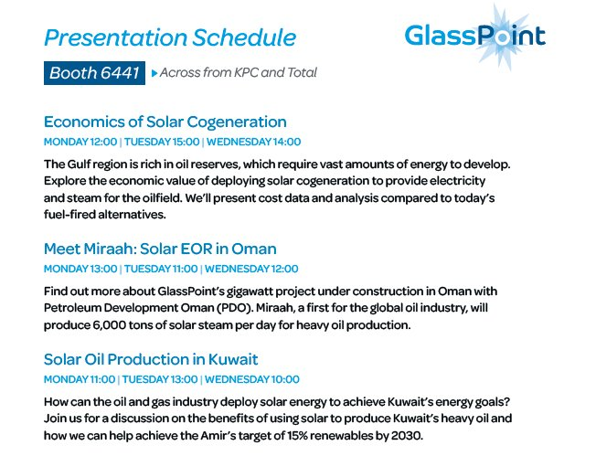 Glpoint Solar On Twitter Join Our Sessions In Booth 6441 During Kogs2017 To Learn About Opportunities For Oilfield Operations