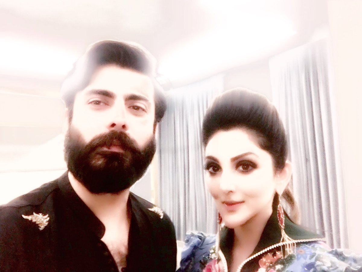 A little behind the scenes fun last night at #plbw17 with @_fawadakhan_ @sajal @MawraHocane &amp; the gang #lahore #fashionweek <br>http://pic.twitter.com/eXWhB8k51Y