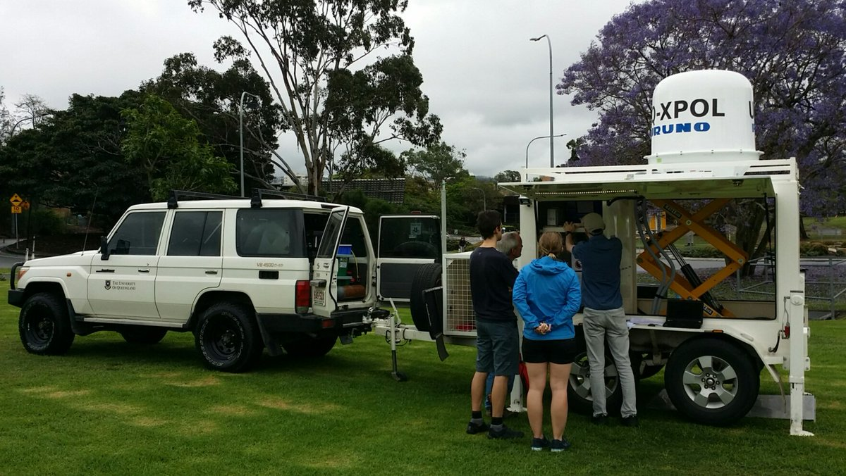 Doing a dry run with the mobile radar. Prepping for research this hail season! #uqhail #uqsees #bnestorm #UQ <br>http://pic.twitter.com/P6BhVutiqY