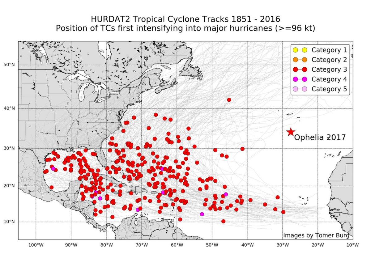 #Ophélia : le 1er #ouragan de cette puissance à évoluer aussi près des côtes européennes  http://www. meteofrance.fr/actualites/548 09682-ophelia-un-ouragan-europeen  … pic.twitter.com/ypzMS9v9aE