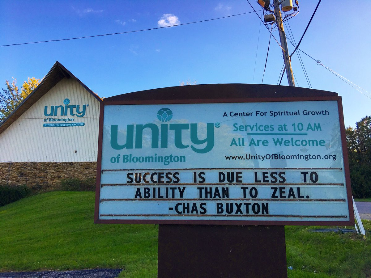 #Success is due less to #ability than to #zeal. #ChasBuxton #Unity #Bloomington #Btown #UnityOutdoorSign #Indiana #BloomingtonIndiana #Bless<br>http://pic.twitter.com/OJgUca2w8a