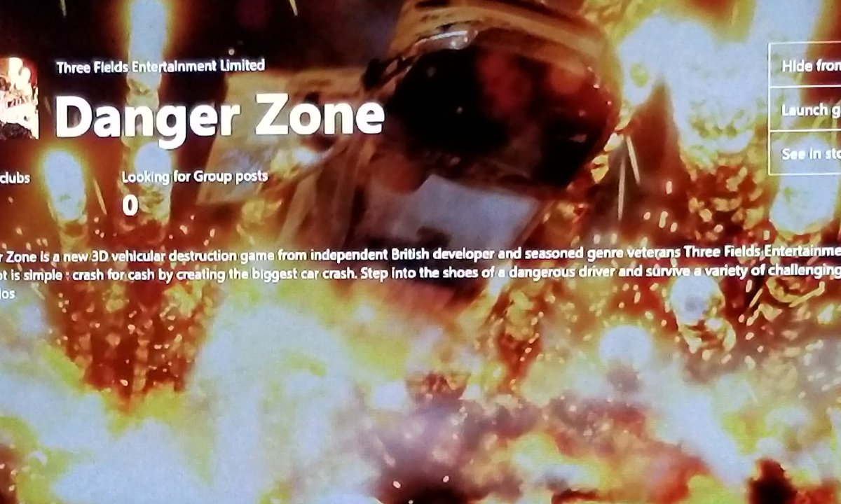 Danger Zone is currently available on the Xboxlive Marketplace By Developers #three fields entertainment Limited    https:// youtu.be/-WC2sdU5vlI  &nbsp;  <br>http://pic.twitter.com/fcNsaTR9W3