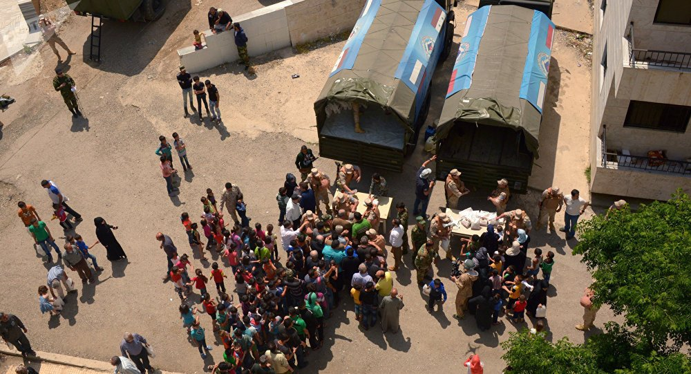 #Russia delivers two tons of humanitarian aid to #Syria - @mod_russia<br>http://pic.twitter.com/tMdHUzutdD