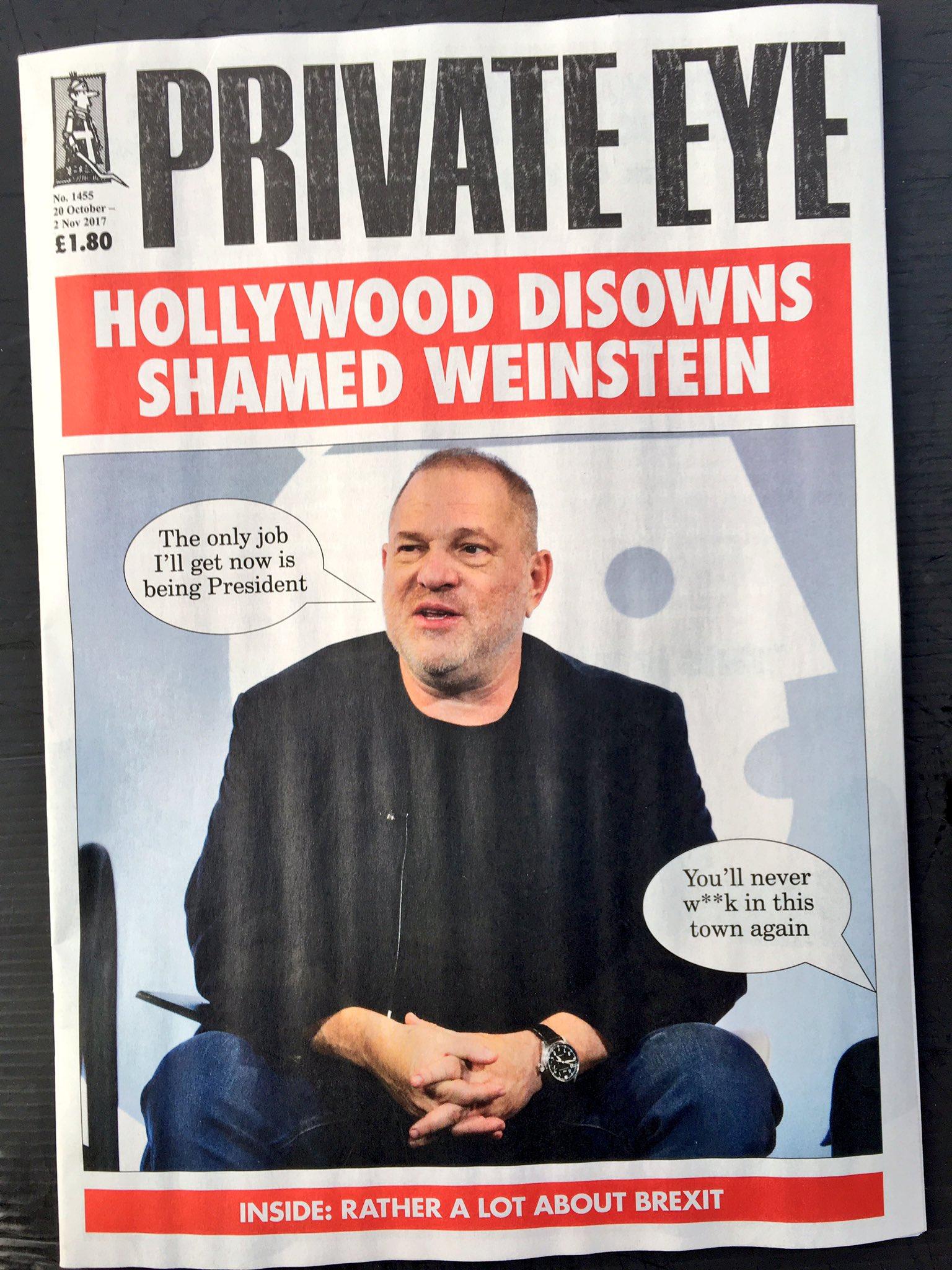 RT @ThatTimWalker: Private Eye on Weinstein today https://t.co/pMg0f1XW78