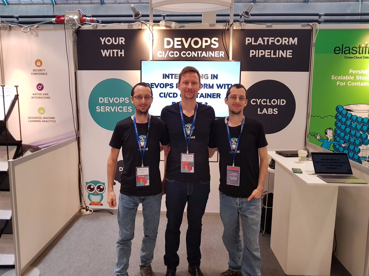 Proud to be at @DockerCon as a Sponsor. Come to say Hello and watch our Demo #DevOps #CI/CD <br>http://pic.twitter.com/2U65J38YAT