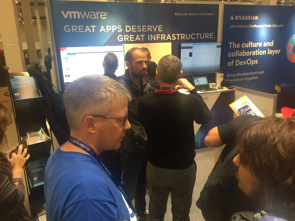 At .@DockerCon Europe? Check out @WavefrontHQ @vmware booth &amp; see how to monitor #docker #kubernetes #apps &amp; more #DevOps<br>http://pic.twitter.com/HOlduoZ6a0