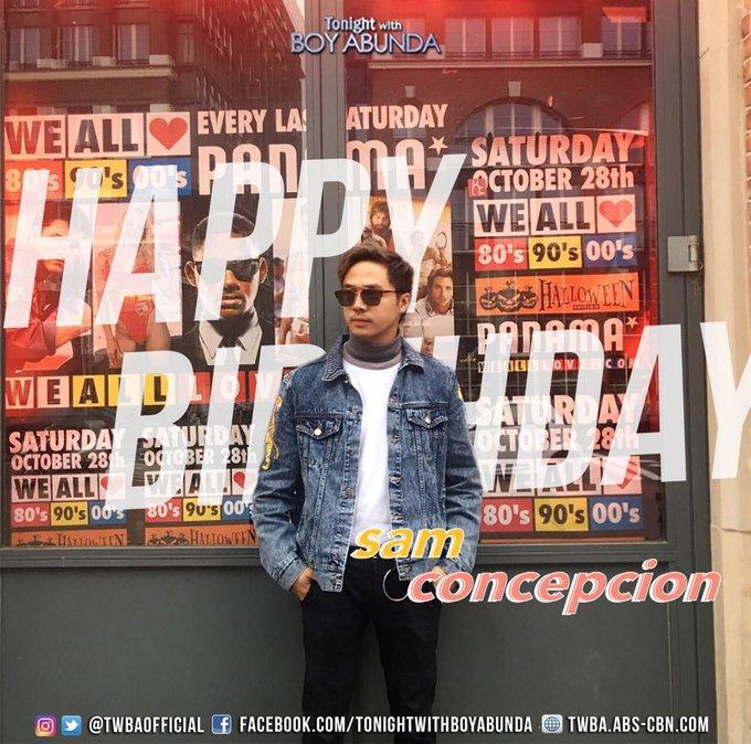 Happy Happy Birthday Sam Concepcion! Enjoy your day!( : )