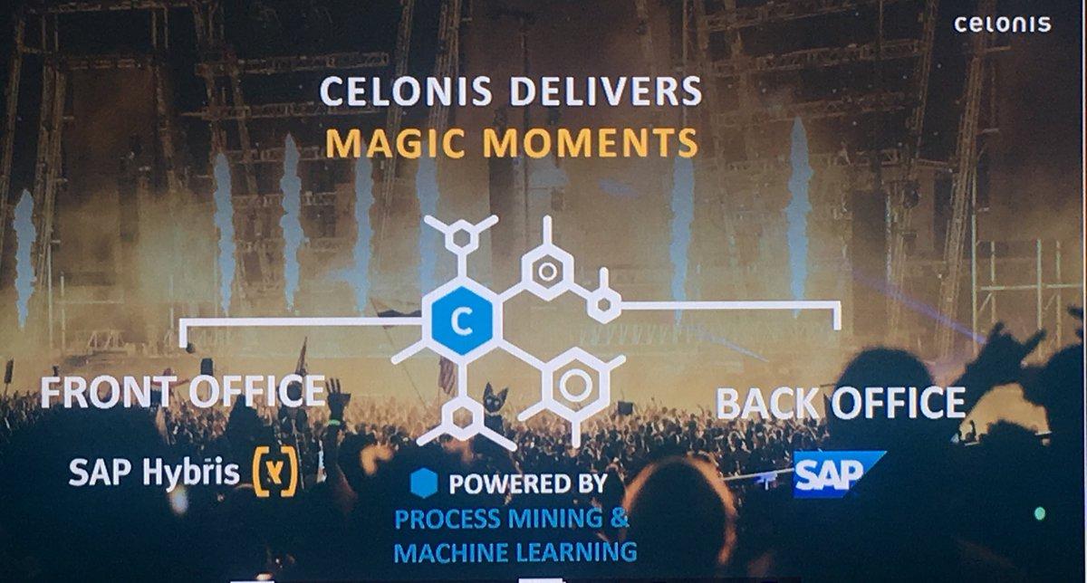 MyPOV: @alexanderrinke demoing @Celonis @SAPHybris #SAPHybrisLive #machinelearning #ai #commerce <br>http://pic.twitter.com/CNLch3qebK
