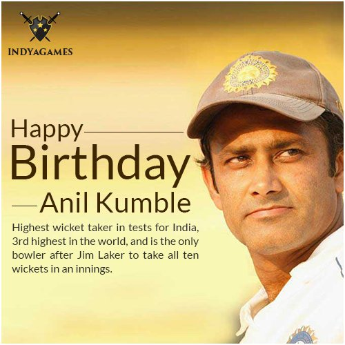 Happy birthday Anil Kumble!!