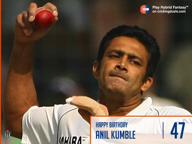 Happy birthday, Anil Kumble.