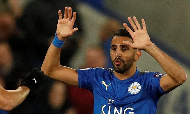 Leicester's Mahrez hailed for his hard work and character