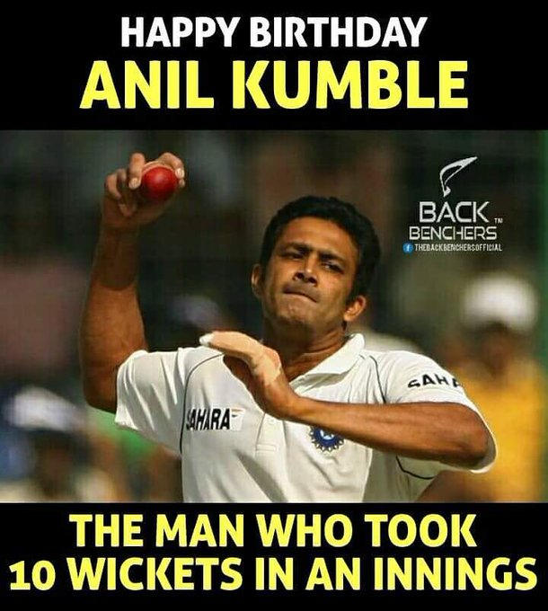 Happy Birthday Magician ... Anil Kumble ....