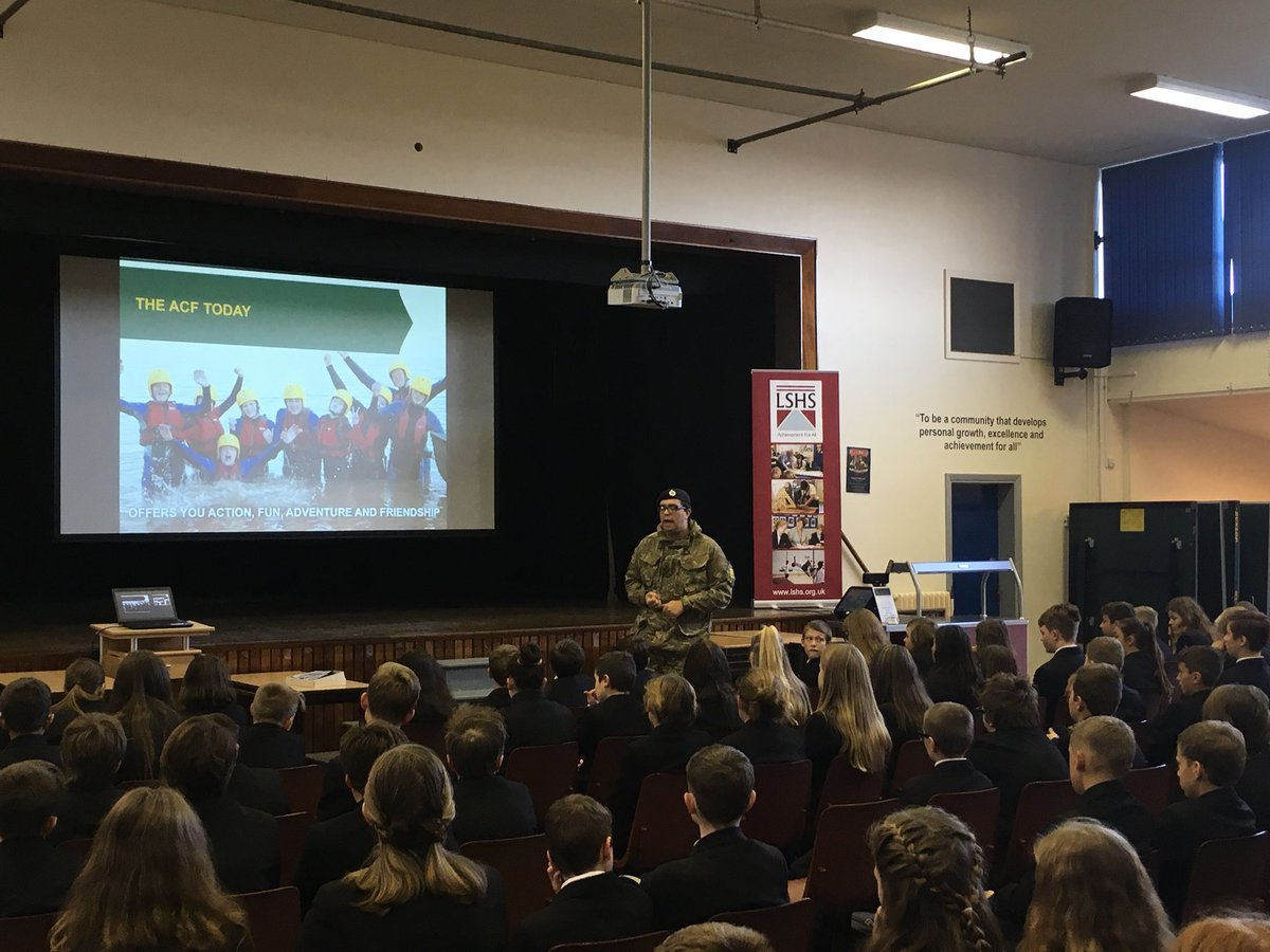 An inspiring assembly with the local Army Cadets Force. They're looking for new cadets and adult volunteers. Get involved! @ArmyCadetsUK