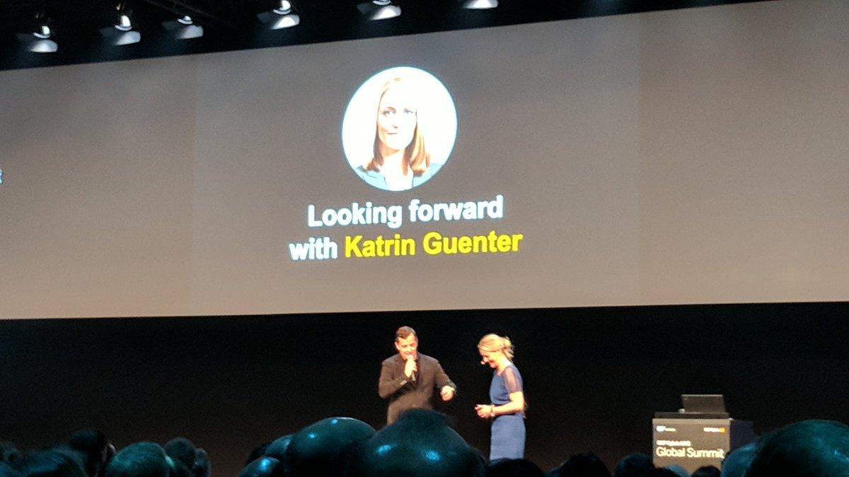 Next up - Katrin Guenther - another @SAP...