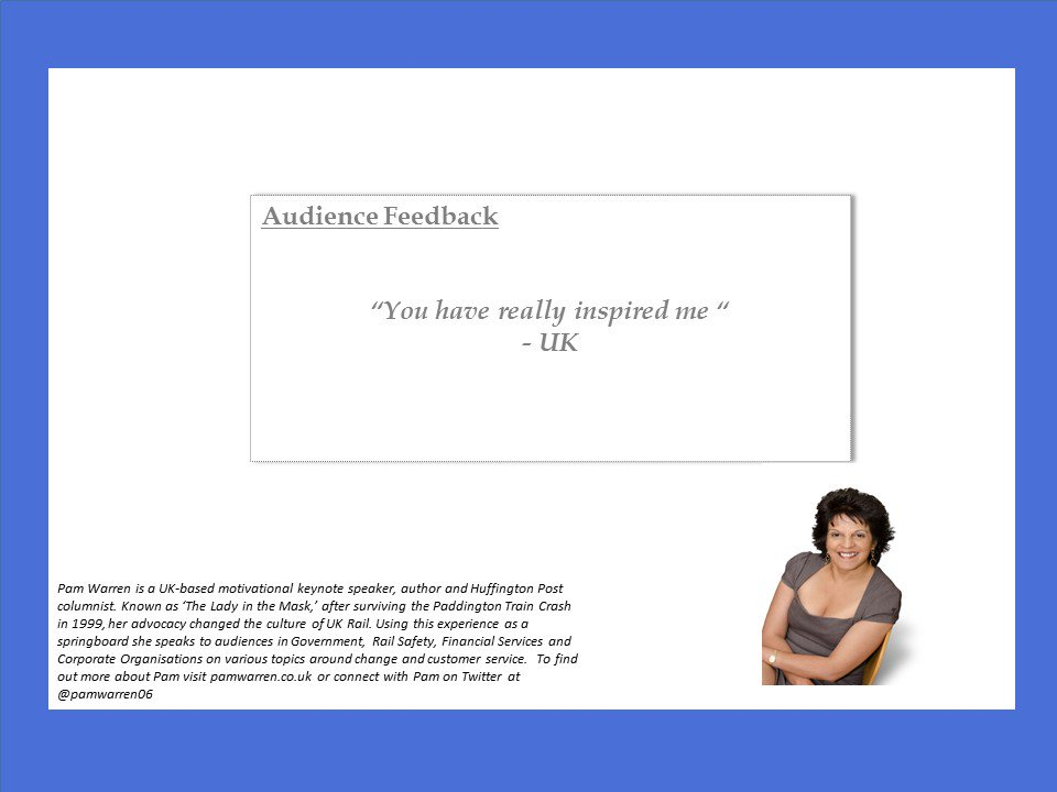What people have said! #feedback #professionalspeaker <br>http://pic.twitter.com/xBXkNzXQAI