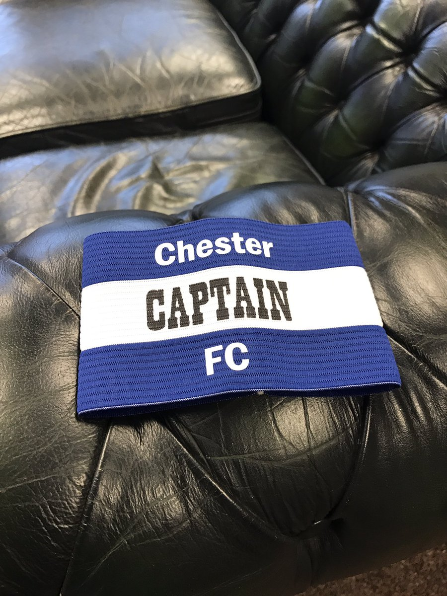Pleased to supply @ChesterFC with their new Captains armbands last week #chestertweets #nwalestweets #captain #ChesterFC #local #football<br>http://pic.twitter.com/T64rYIsJtG