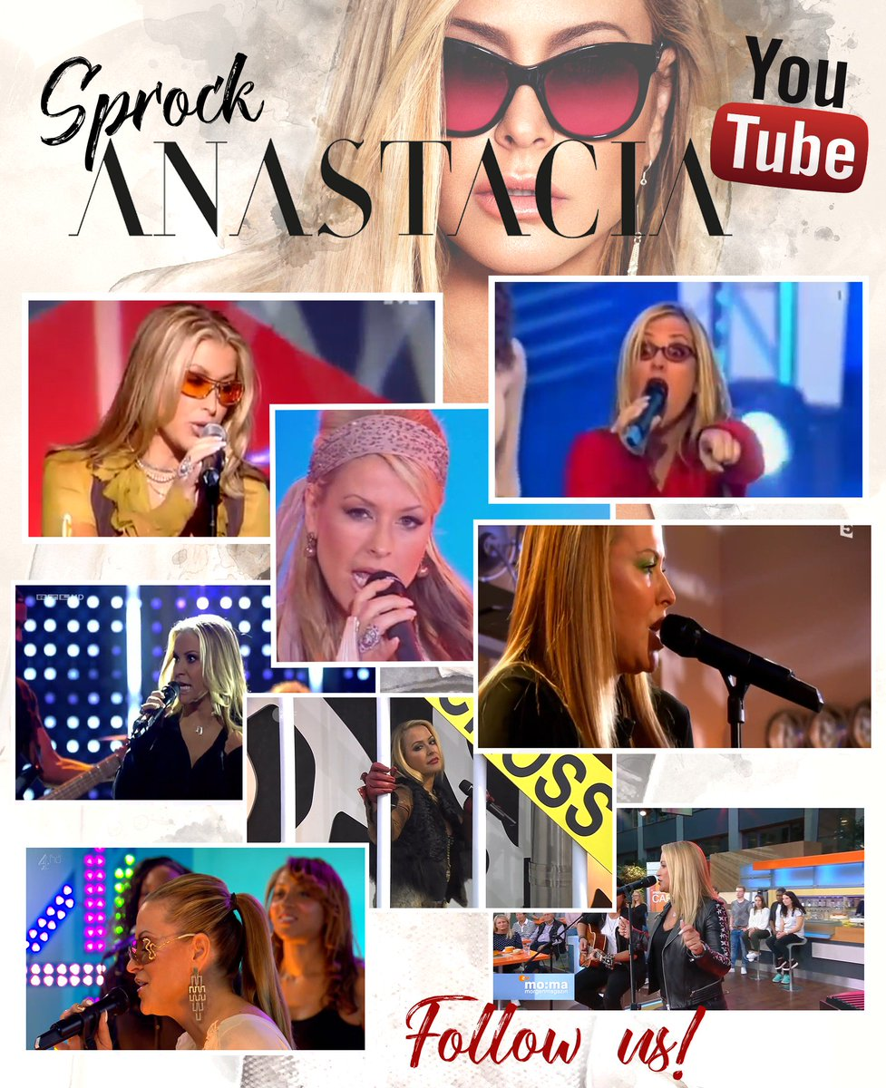 YOUTUBE» We&#39;ve updated our #youtube channel with old and new #videos of @anastaciamusic!  Go check them:  https://www. youtube.com/user/sprockana stacia &nbsp; … <br>http://pic.twitter.com/xoJVTIhjsY