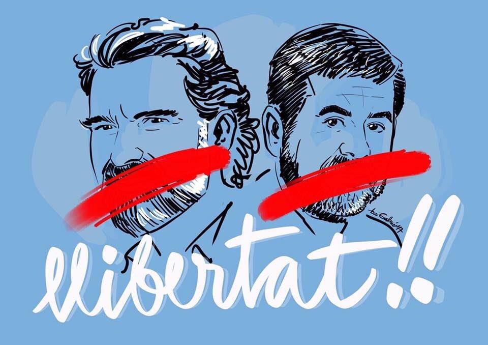 Jordis: We want #Catalonia to be independent. PM @marianorajoy: You go to jail. Jordis: Ok.  #LibertatJordis #Spain #1oct #10oct #17oct<br>http://pic.twitter.com/DSvmeneyxr