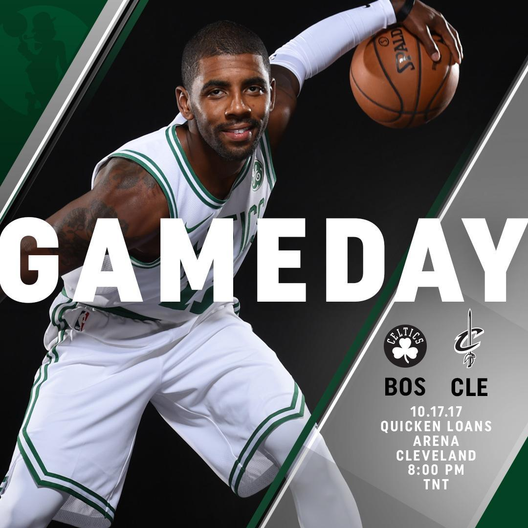 The season IS HERE 🙌  #Celtics at @cavs  🕗 8:00 p.m. 📺 @NBAonTNT  📻 @9...