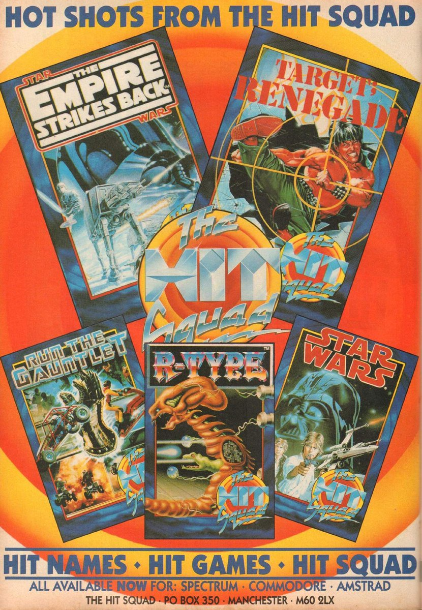 THE HIT SQUAD: Here&#39;s a 1990 UK ad for 5 superb budget label re-releases. A bargain at £2.99 each #retrogaming #ZXSpectrum #c64 #cpc #gaming<br>http://pic.twitter.com/T6B6Hsr9mK
