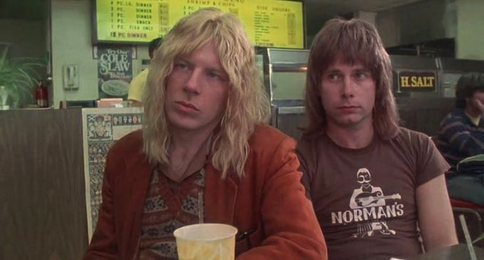 Happy 70th birthday to Michael McKean. Photo (with Christopher Guest) from This is Spinal Tap, 1984.