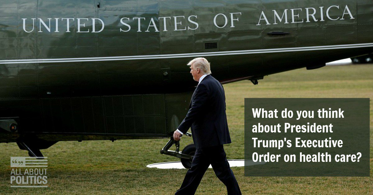 #DailyPoll: What do you think about President Trump&#39;s Executive Order on #healthcare?   https://www. allaboutpolitics.com/what-do-you-th ink-about-president-trump-s-executive-order-on-health-care/daily-poll &nbsp; … <br>http://pic.twitter.com/MbEITVu1Hm