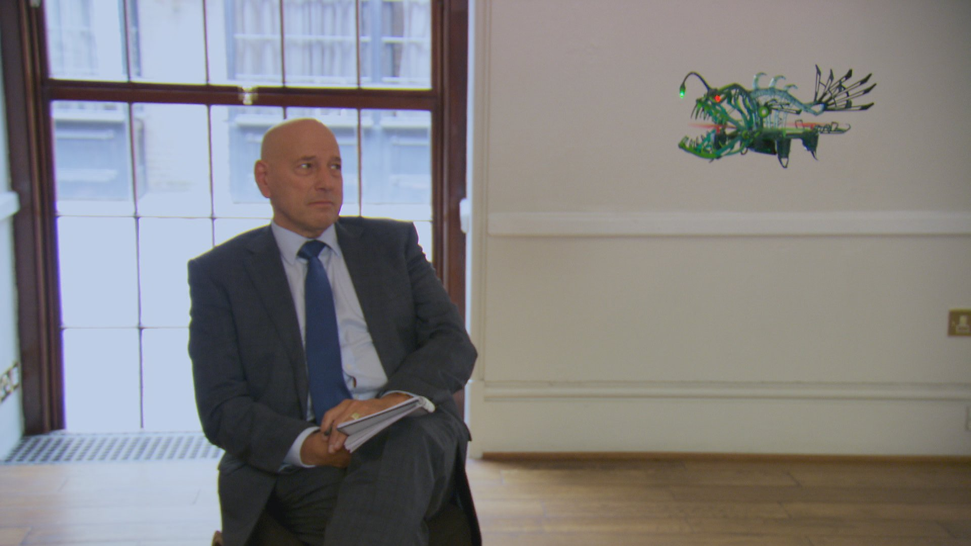 Tomorrows episode of The Apprentice is all about robots. This one looks exactly like Claude. https://t.co/CGVZN0vLcU