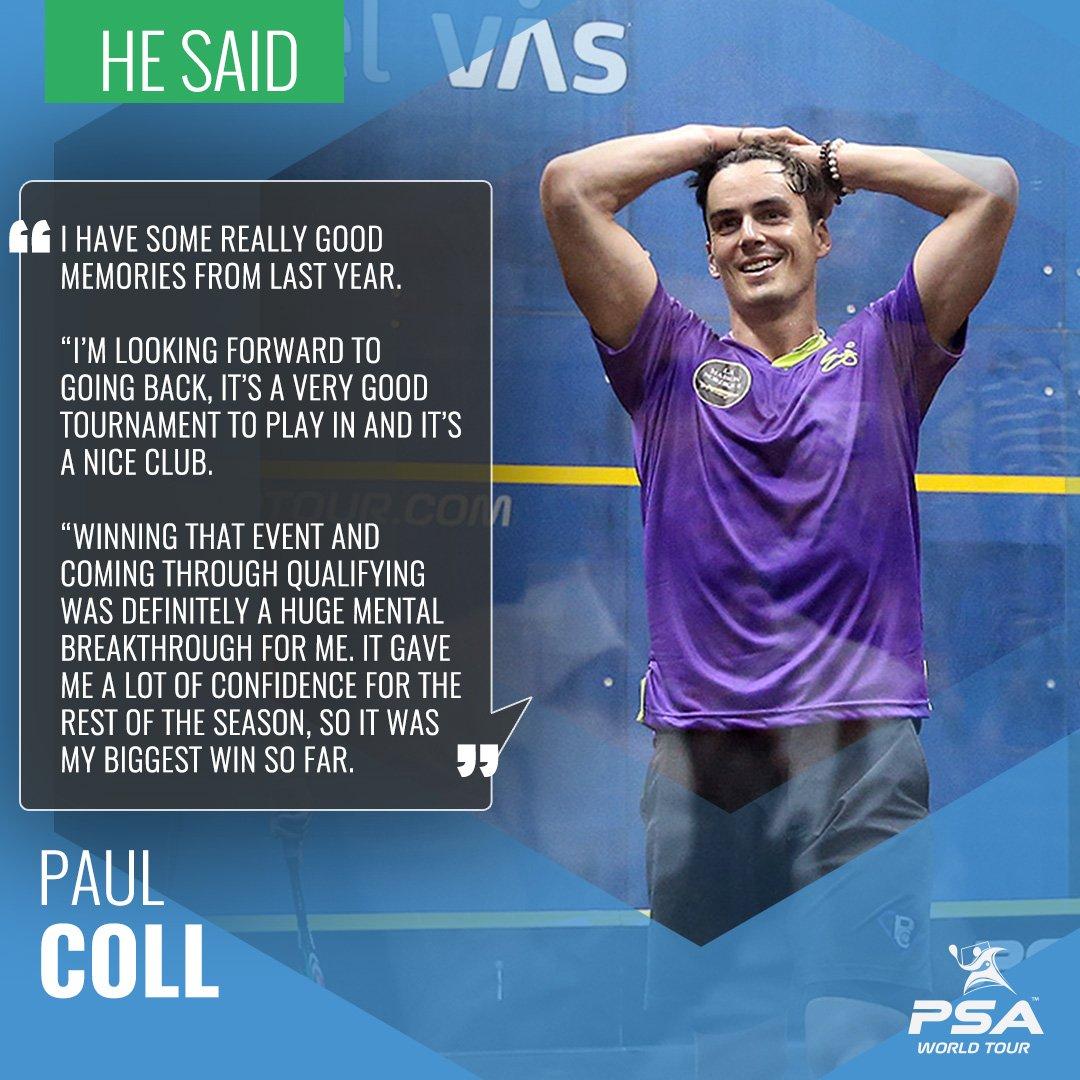 test Twitter Media - News: @paulcollsquash eager to return to scene of 'biggest win' at @CVASsquash   Full story 👉  https://t.co/E5hsjOmT8T #squash https://t.co/Sw58RwOb8y