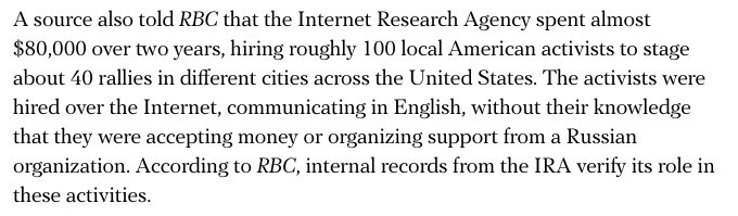 Shocking details in new @ru_rbc investigation on #Russia troll factory&#39;s US election ops. English summary:  https:// meduza.io/en/news/2017/1 0/17/russian-journalists-publish-massive-investigation-into-st-petersburg-troll-factory-s-u-s-operations?utm_source=t.co&amp;utm_medium=share_twitter&amp;utm_campaign=share &nbsp; … . 1/many<br>http://pic.twitter.com/4cQwhtaTxH