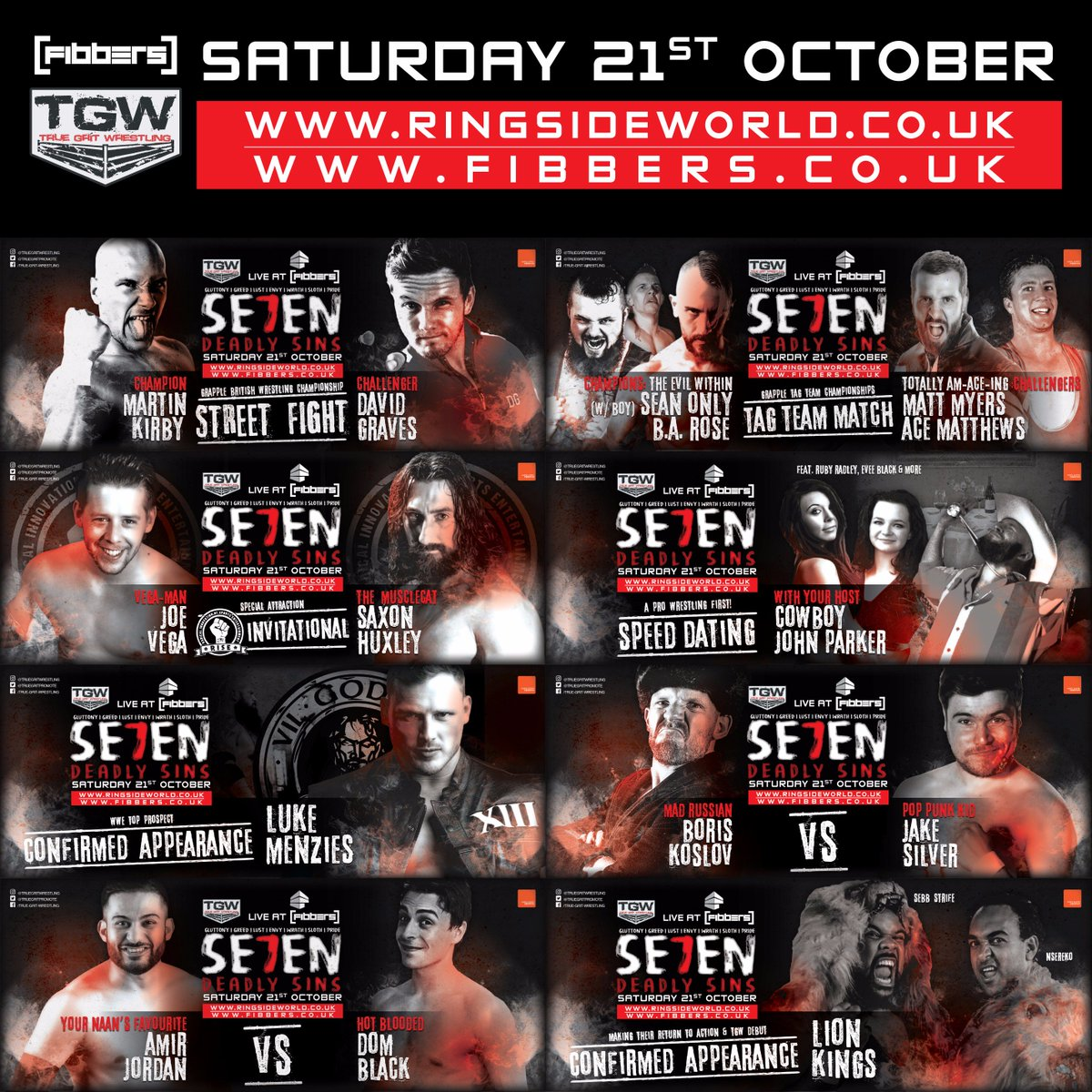 #wrestling in #York this Saturday! Make sure you&#39;ve booked your tickets for @FibbersYork  http://www. ticketweb.co.uk/event/true-gri t-wrestling-presents-se7en-deadly-sins-tickets/286917 &nbsp; … <br>http://pic.twitter.com/7EZ0DEXG8q