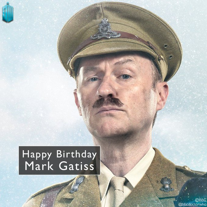 Happy birthday to writer, actor, and mega-Whovian - Mark Gatiss