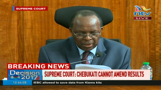 BREAKING: Supreme Court - IEBC chairman Wafula Chebukati cannot amend...