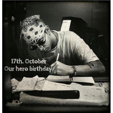 CHAO to Eminem. Happy birthday to u ma man, enjoy your day and i wish u all the best