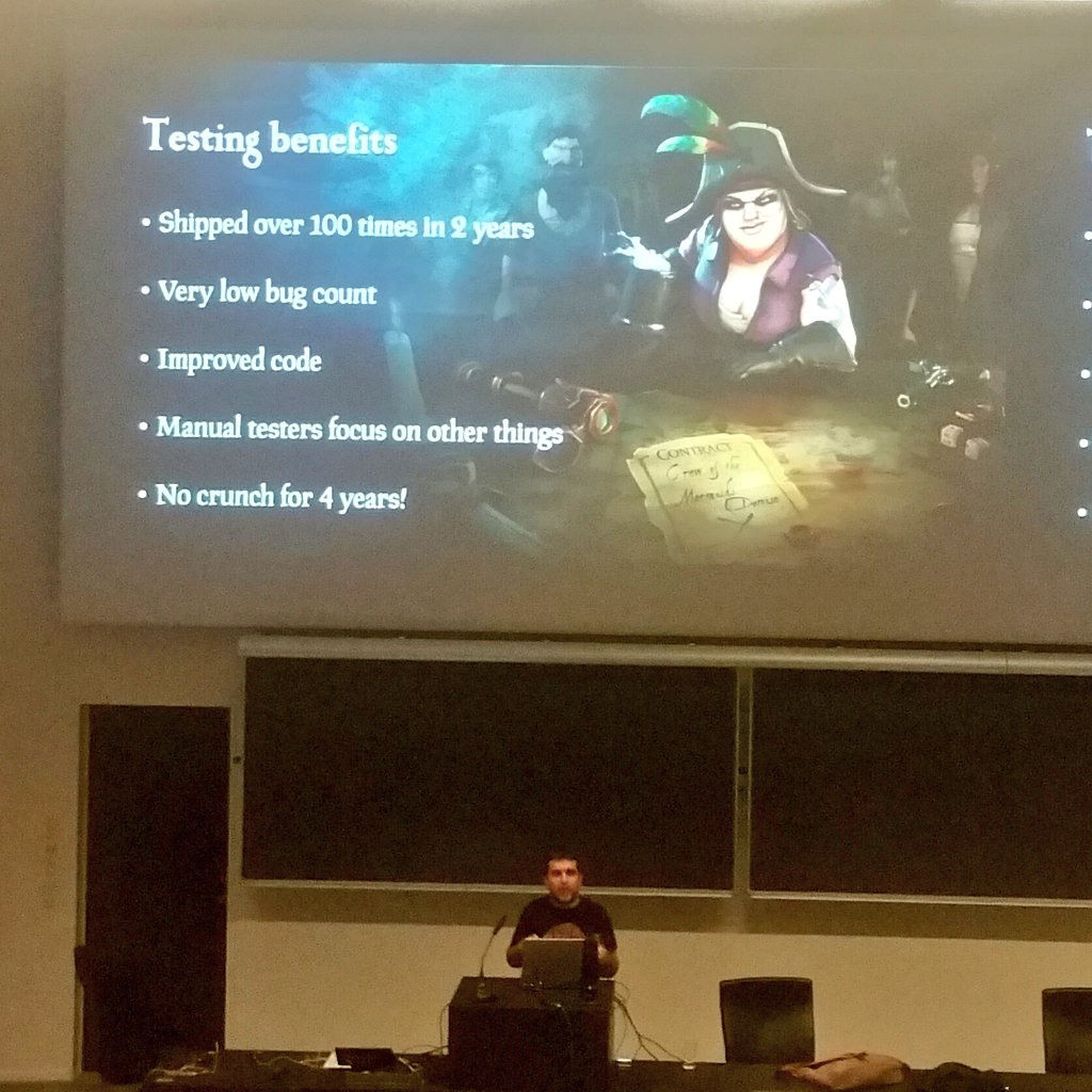 Killing crunch with automated testing - I like that  #GAiN17 <br>http://pic.twitter.com/es3mSDBnzP
