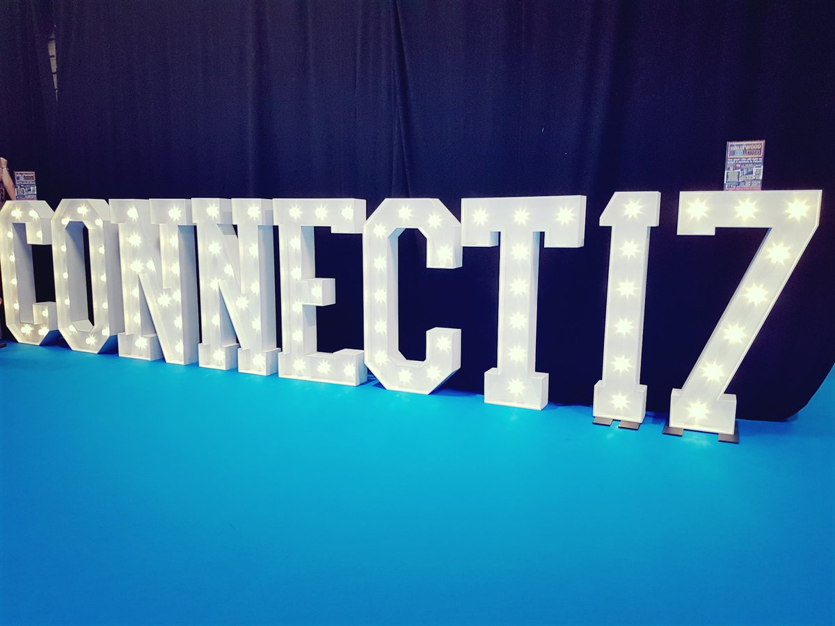 All set up &amp; ready to go! #hollywoodledletters @ConnectShowcase #connect17 #connectshowcase Hall2 come visit  <br>http://pic.twitter.com/pGXjqj5XaO