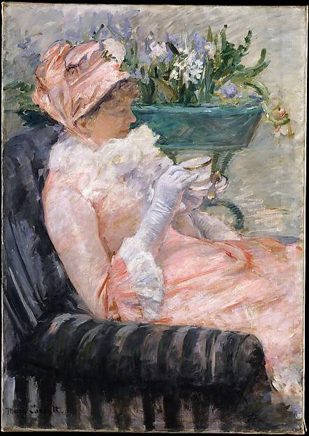 Mary Cassatt's model for this canvas was her sister, Lydia. https://t.co/uinsBT4R0v