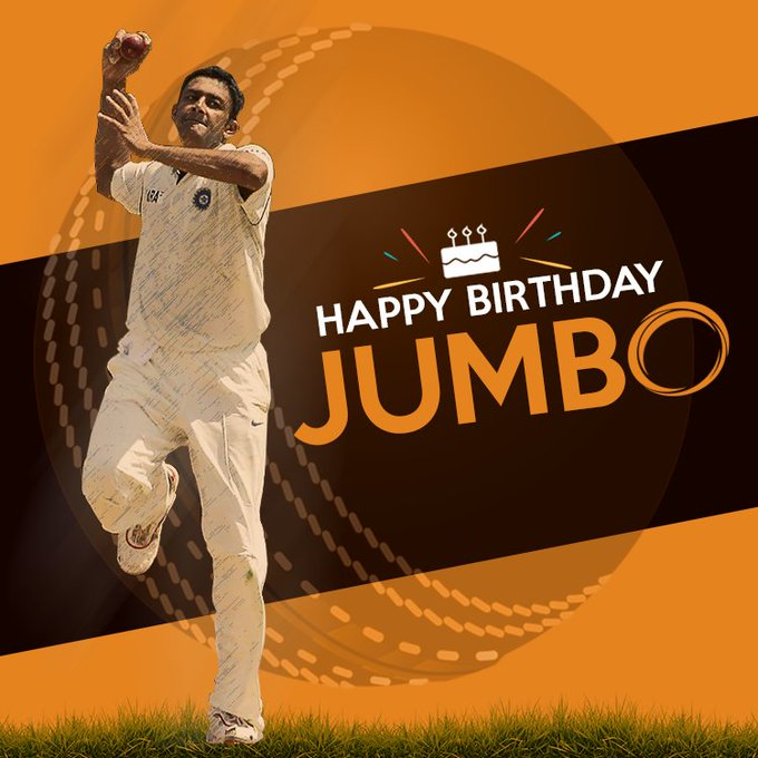 "We wish ""Indian spin legend\"" Mr. Anil Kumble a very happy"