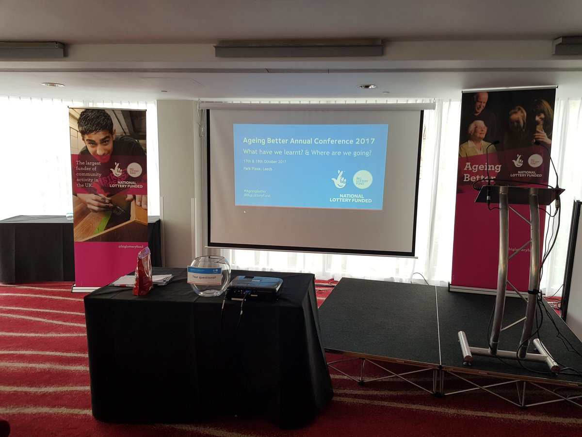 We're at the #AgeingBetter conference in Leeds! Great to see so many people here! @BigLotteryFund @SocEntKent https://t.co/89uIHtsyzt