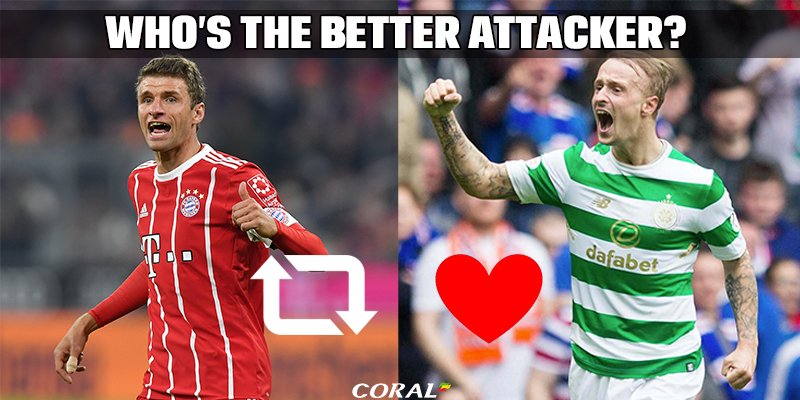 Who's the better attacker?   RT 🔄 Muller - 1 goal this season LIKE ❤ Griffiths - 9 goals this season