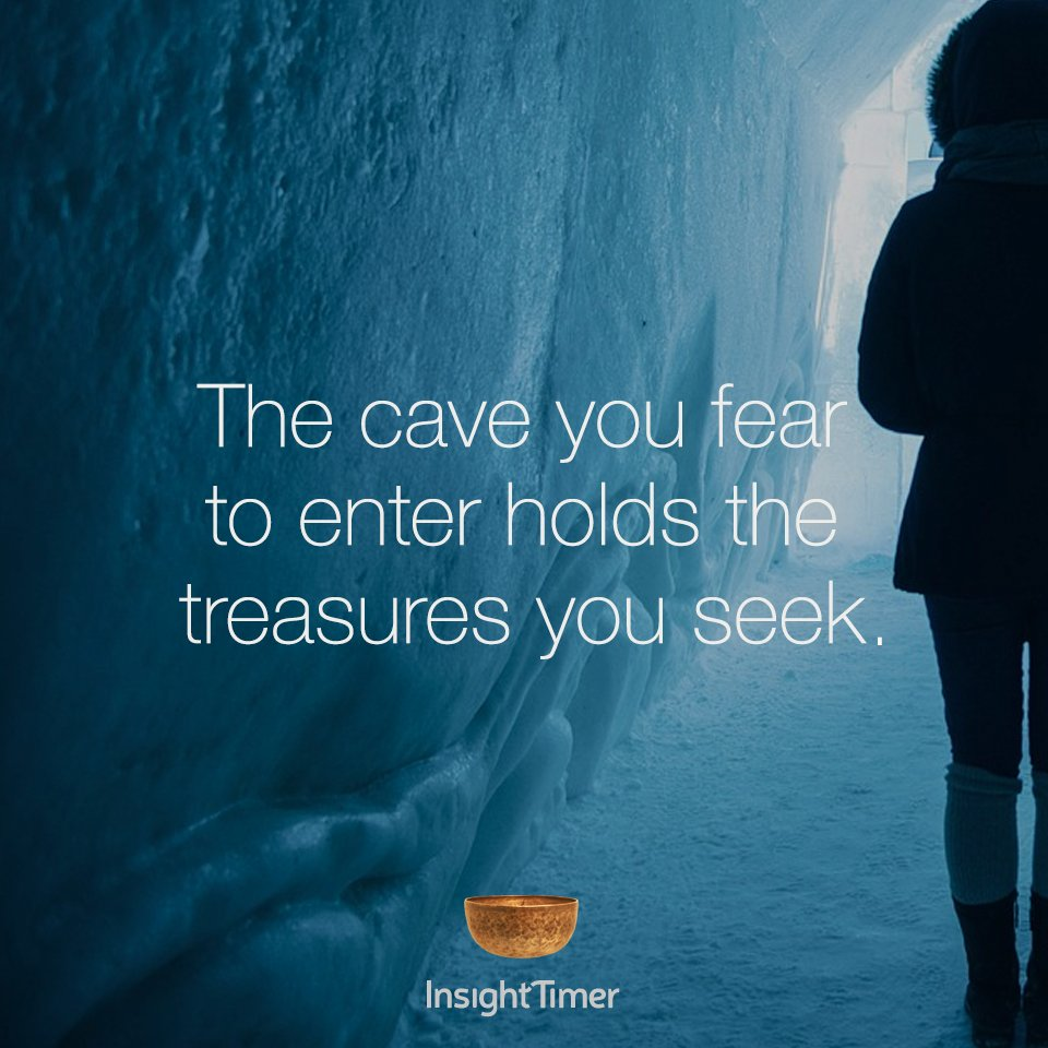 The #cave you #fear to #enter holds the #treasures you #seek. #mindfulness #meditation #wisdom #wellness<br>http://pic.twitter.com/1js1tYXHe8