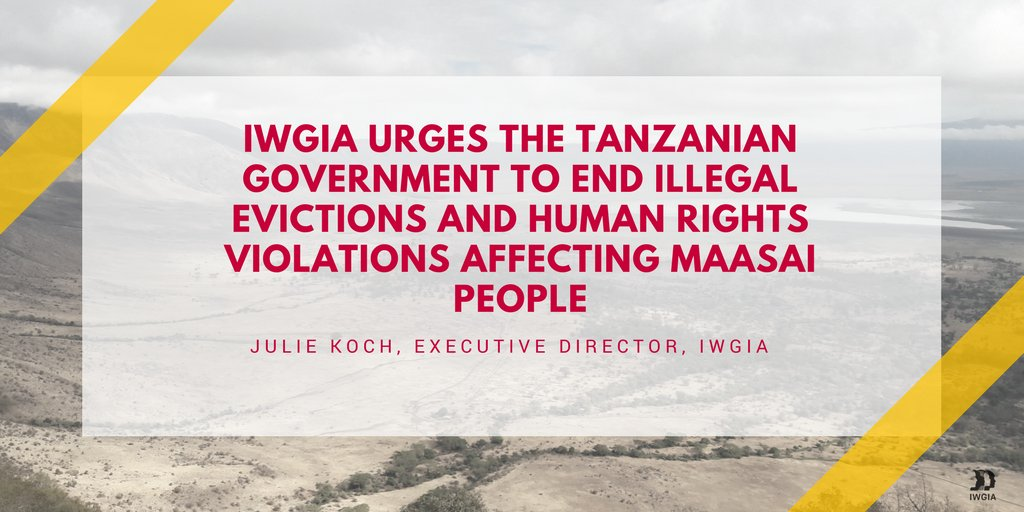 IWGIA urges #Tanzania govt to end illegal evictions of #indigenous Maasai in #Loliondo on @guardian #landrightsnow:  http:// bit.ly/LandMeansLife  &nbsp;  <br>http://pic.twitter.com/3sbo0pOhJA