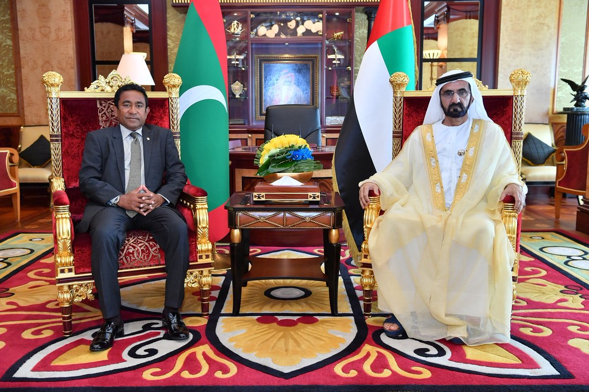President met with the VP &amp; PM of the #UAE and the Ruler of #Dubai, HH Sh. Mohammad Bin Rashid Al Maktoum, this afternoon. <br>http://pic.twitter.com/SL51lCC7fJ