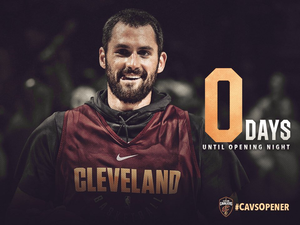 #CavsOpener is here! 🏀 https://t.co/TqkEsGlph3
