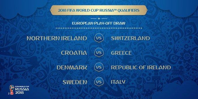 DMVs12SXUAEqrhE Na repescagem, Itália contra a Suécia em duelo por vaga na Copa 2018