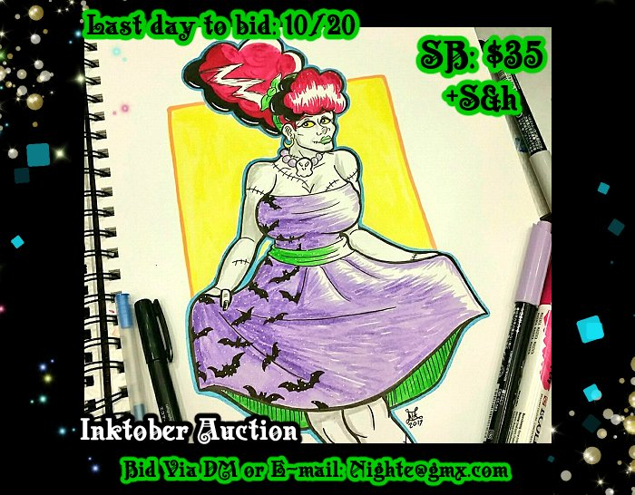Auctioning off this #Inktober #monster lady :) SB: $35  BI: $2 DM or mail me nighte@gmx.com to bid. Current bids posted in the comments. <br>http://pic.twitter.com/ku1FVIEDQZ